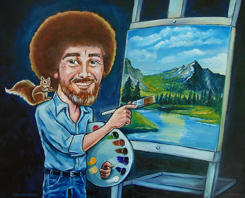 Bob ross mcillustrator voltagebd Gallery