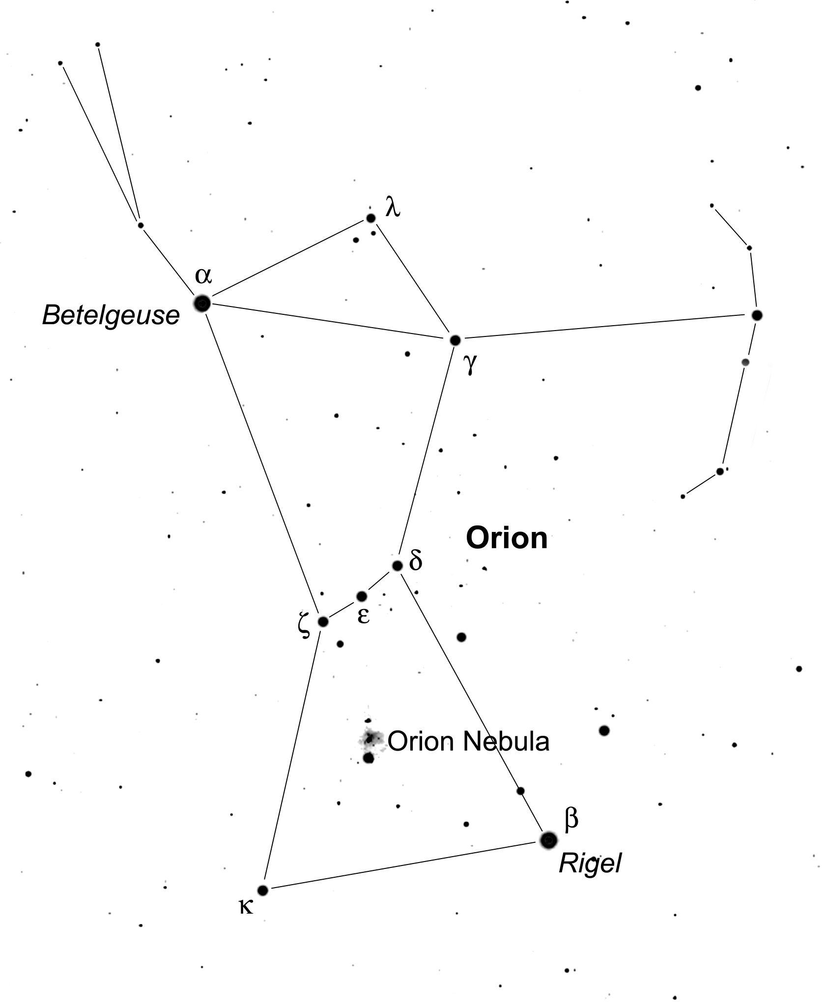 Nevada S Night Sky Orion The Hunter