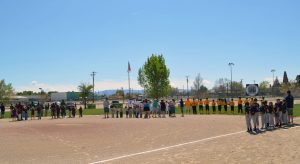 Sunshine and a light breeze greeted the 62nd opening ceremonies of Hawthorne Little League. Spectators and proud ballplayers standing tall in their bright