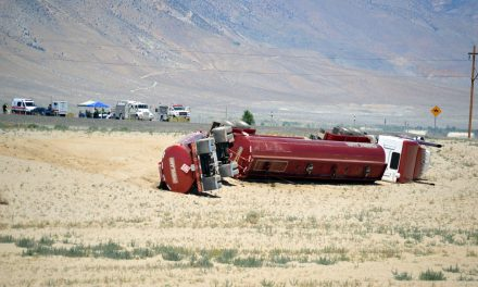 Overturned semi causes delays on U.S. 95 truck bypass
