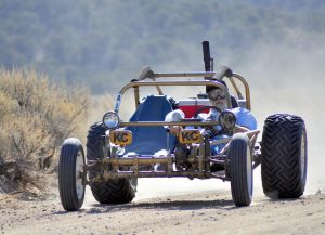 Heidi Bunch A contestant in the High Desert Rally races the off-road track in Mineral County Saturday.
