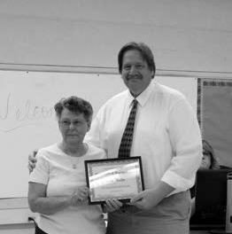 Special honor received at school board meeting
