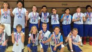 Courtesy photos The champion 7th grade Rocket basketball team.