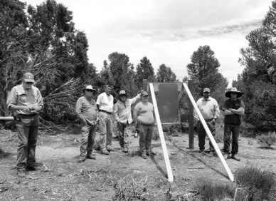 Interpretative sign installed at Mineral County ghost town