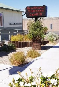 Heidi Bunch -  A new sign outside of the Hawthorne Utilities office was purchased recently from a grant through the Local Emergency Planning Commission.