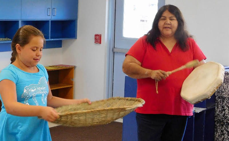 Schurz children weave through cultural summer program