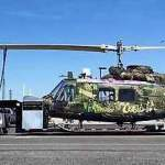 Huey Helicopter headed to Nevada Museum passes through Town