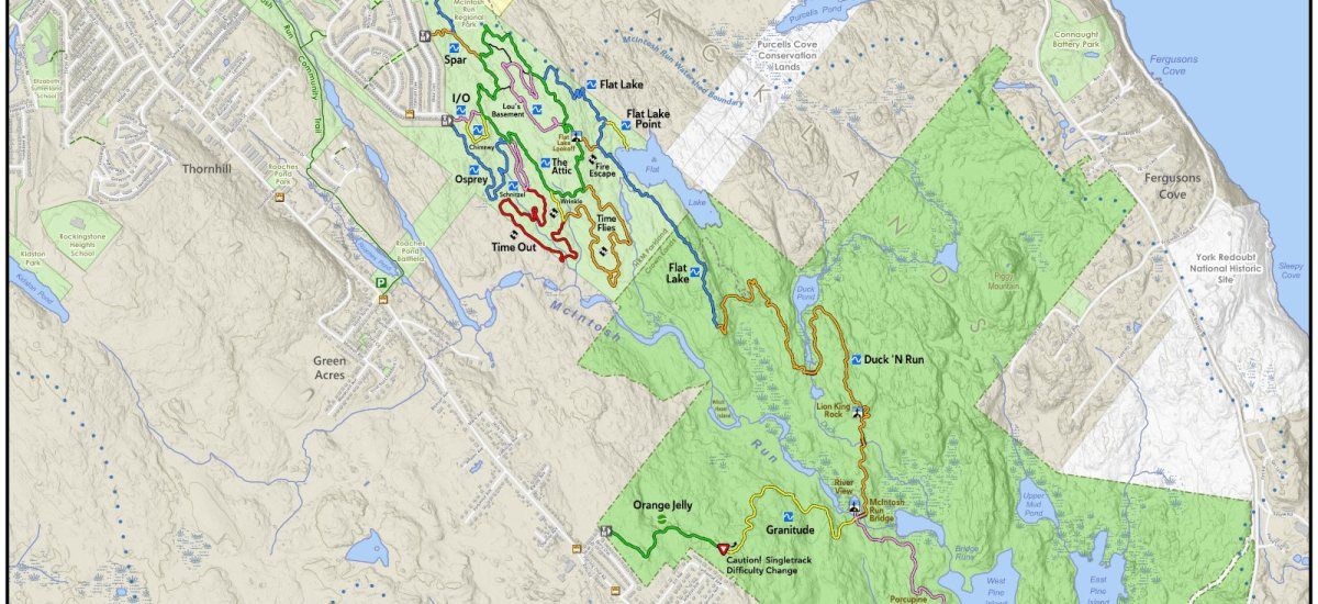 New Maps, trail markings, and wayfinding