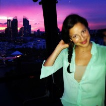 Cable Car Riding in Singapore at Sunset