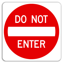 do not enter
