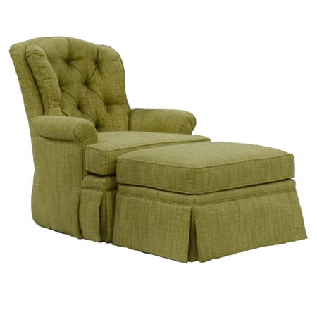 Jessica Charles Swivel Rocker and Ottoman  McKays Furniture