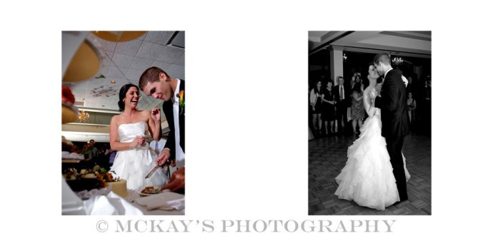 cake cutting and first dance at Locust Hill wedding