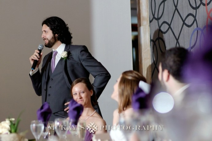 Best Man's toast by top wedding photographer