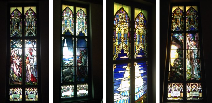 western ny churches with Tiffany Stained glass windows