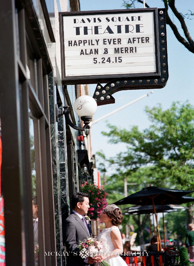 Fine Art Boston Film Wedding Photography at Davis Square Saloon