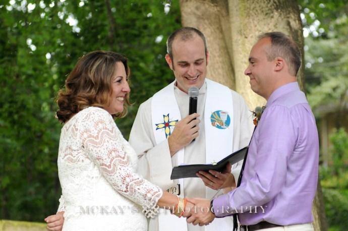 backyard wedding photos Rochester by McKay's Photography
