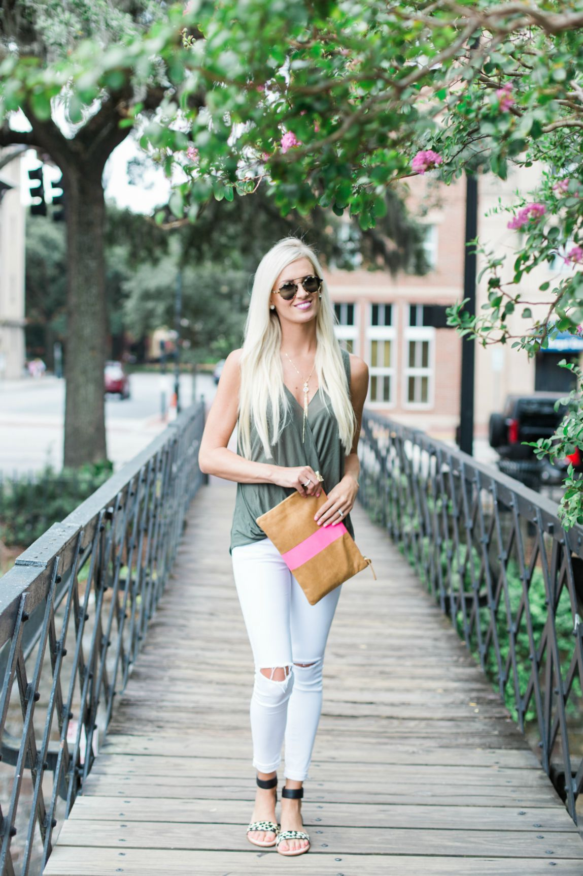 Simple Tank  White Jeans