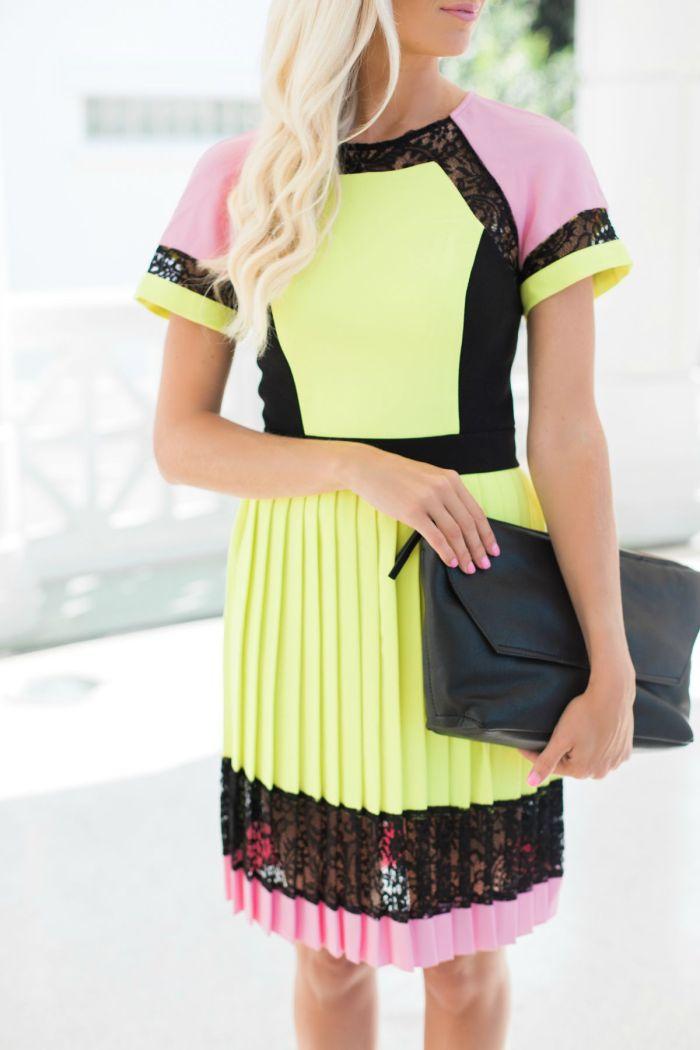 Colorblock Dress Mckenna Bleu