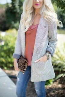 Silk Cami Tweed Boyfriend Blazer