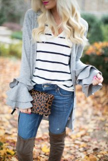 Casual Sweater Over Knee Boots