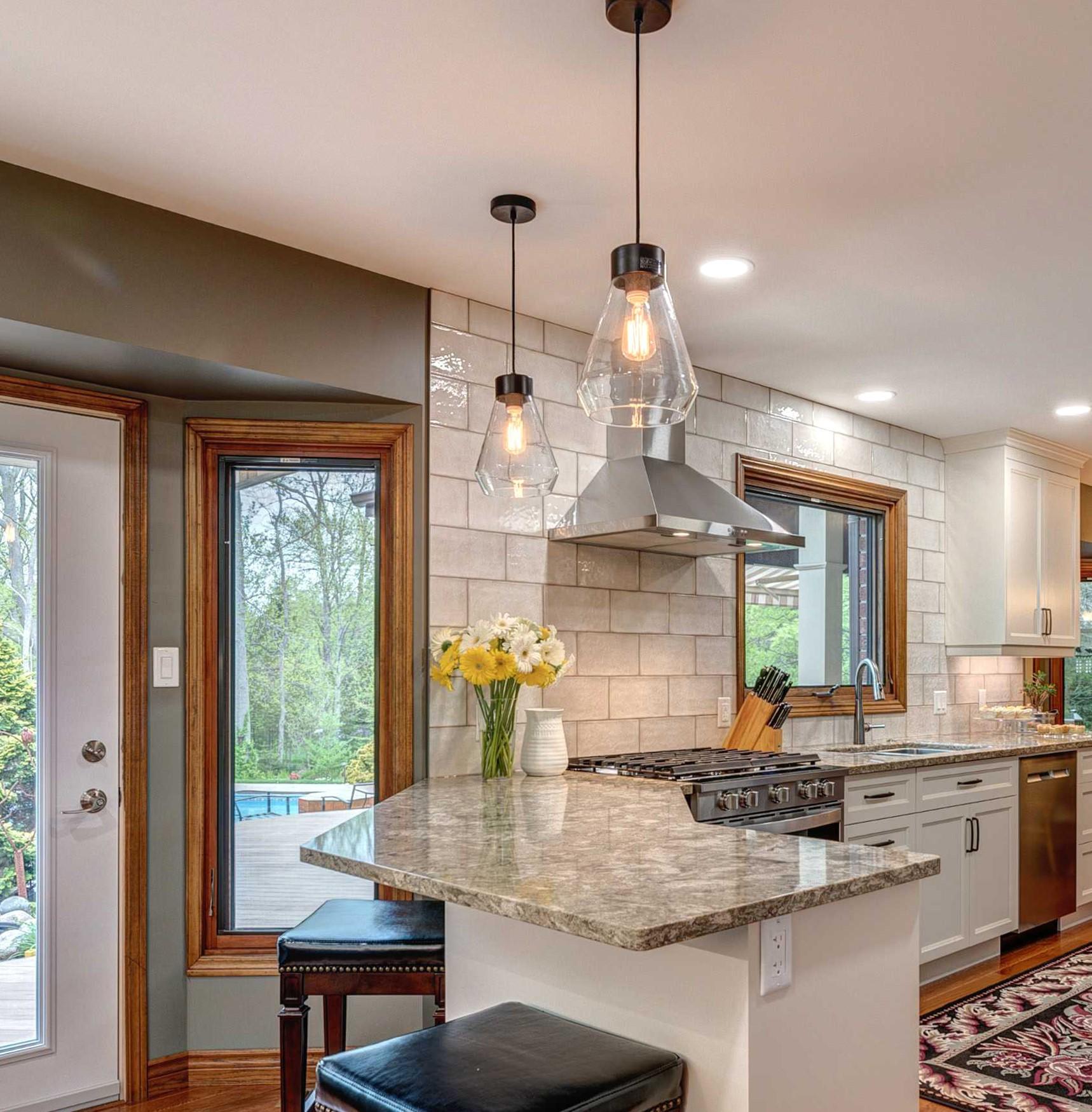 lighting a kitchen island or peninsula