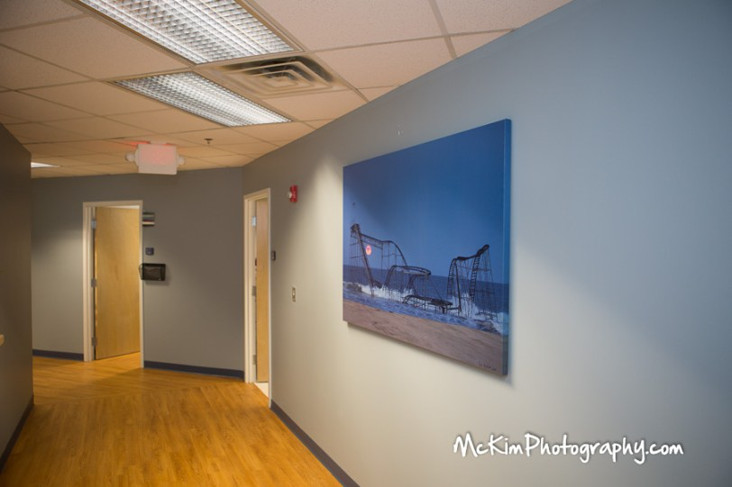 Jet star roller coaster print 40 x 60 in the office of Doctor Howard Landsman.