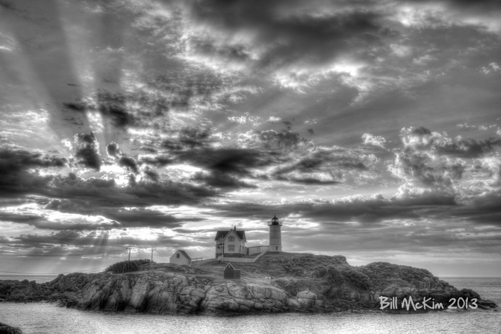 Nubble lighthouse canvas print by bill mckim