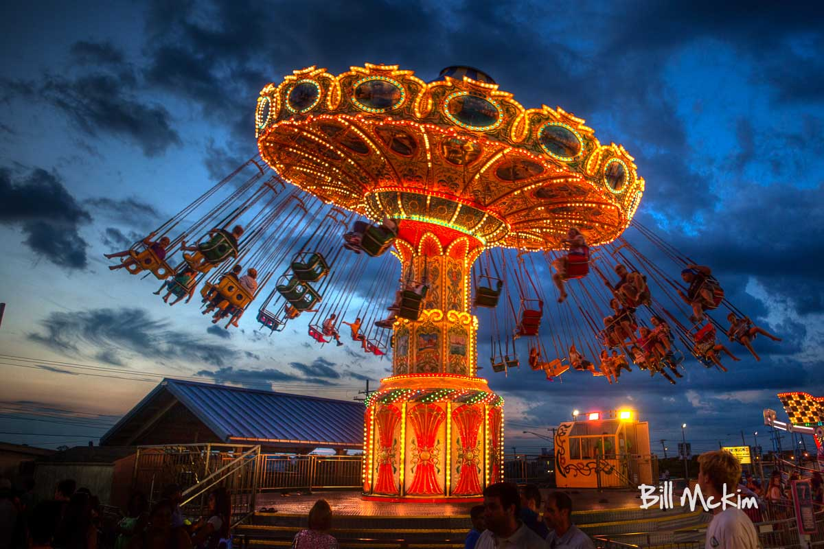 Point Pleasant Beach Swinging Chair Ride Photograph On Canvas Mckim Photography Fine Art Photography