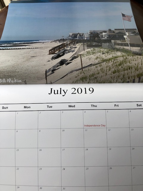 Bay Head NJ Jersey shore photography calendar by bill mckim 2019