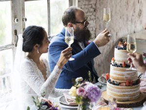Couple during toast - Couple-during-toast