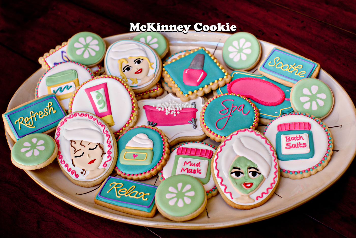 Spa Day Cookies  Mckinney Cookie