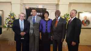 Jamaican history – five living Jamaican Prime Ministers gather