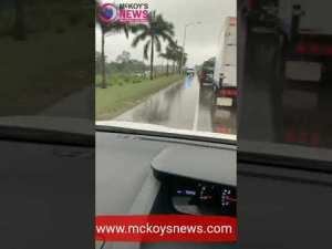 Video: Accident across UWI Montego Bay