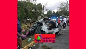 Two Victims of Mobay Double Fatal Crash Still at Hospital Critical Condition