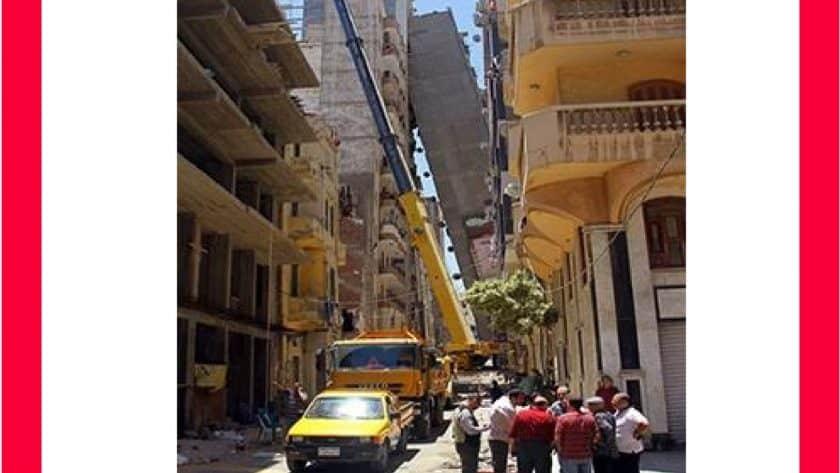 Egypt Apartment Block Tilts Across Street