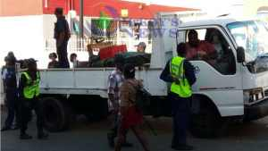 Joint Military Operation Carried out at Charles Gordon Market