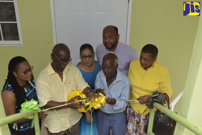 Houses Handed over to Elderly Indigent Men in St. Ann