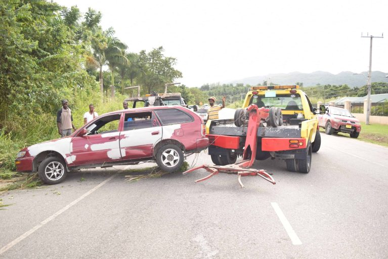 Accident Along Fairfield Road in Montego Bay
