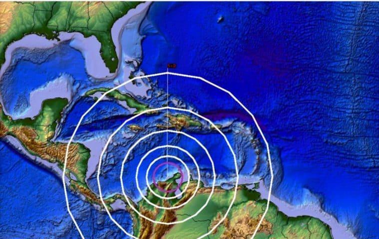 tsunami advisory, Eathquake, Caribbean Sea