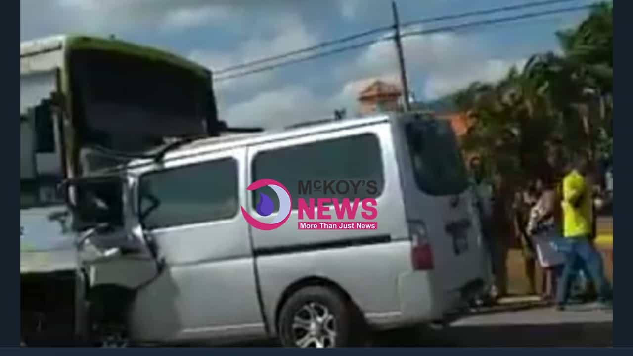 FATHER AND SON KILLED IN ST ANN CRASH