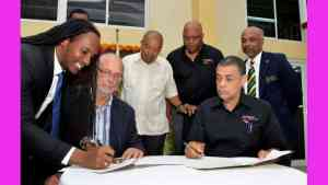 G.C. Foster College and Sprintec Track Club Sign MoU