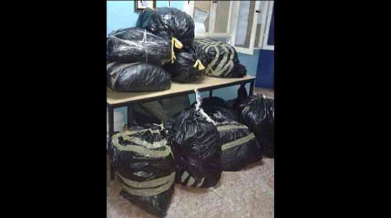 Garbage Bags Filled with Ganga