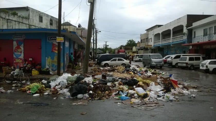 Montego Bay Market Garbage