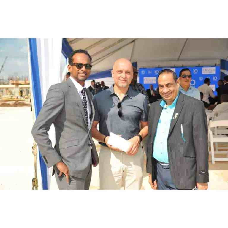 From Left to Right is Carey Wallace of TEF ,Frank Sondern from Hotel Riu and Lachu Ramchandani O.D.J.P