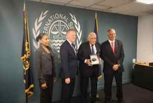 Hon. Mike Henry Presented with Polymetallic Nodule from the Deep Seabed