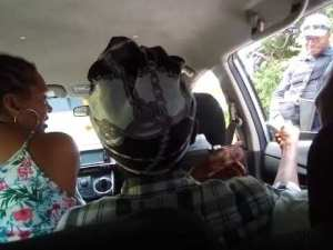 Video: Jamaica Old Lady Curses Police at Checkpoint
