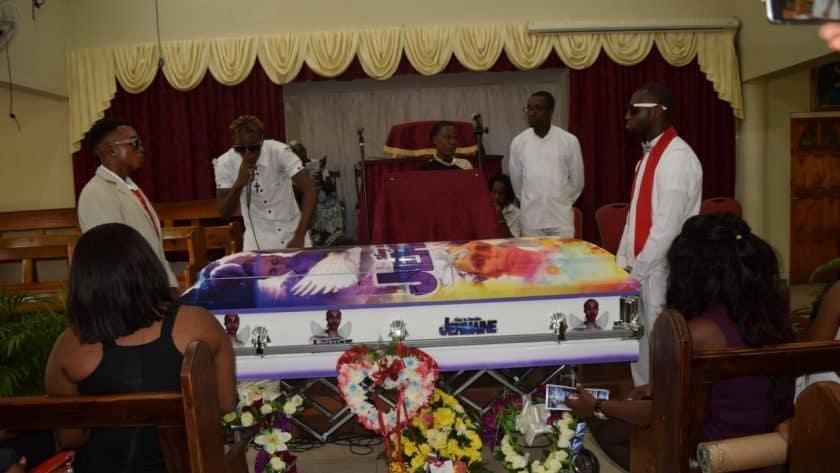 Jermaine Barrett's Funeral