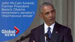 John McCain funeral: Barack Obama FULL eulogy