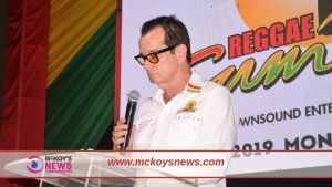 Joe Bogdanovich at the 2019 Reggae Sumfest Press Launch