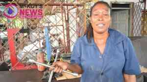 Marcia is St James Only Female Tyre Woman at River Bay Road